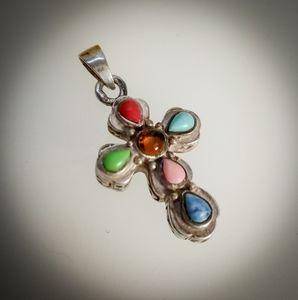 Silpada Sterling Cross Necklace Pendant
